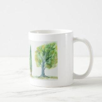 Árvores da aguarela caneca