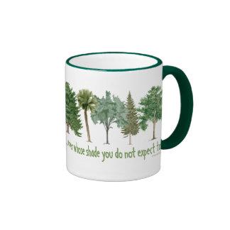 Árvores da planta canecas