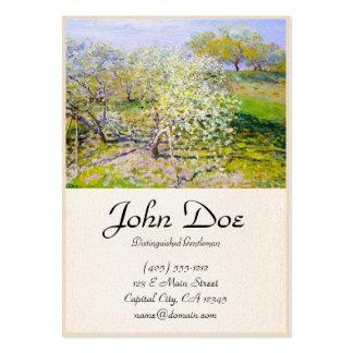 Árvores de Apple na flor, Claude Monet 1873 Cartão De Visita Grande
