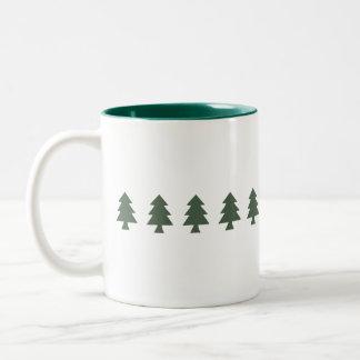Árvores de Natal Caneca Dois Tons