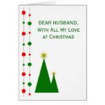 Árvores de Natal do cartão de Natal do marido
