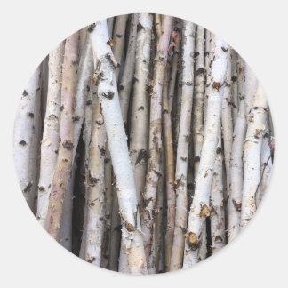 Árvores de vidoeiro adesivo