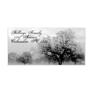 Árvores do carimbo de borracha w/Texas da tinta do