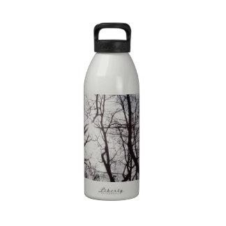 Árvores do Central Park no inverno Garrafinha De Água