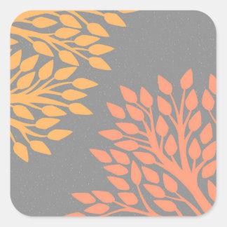 Árvores do outono adesivo quadrado