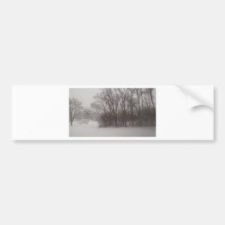 Árvores invernal adesivo para carro