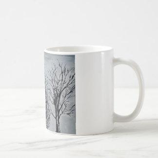 Árvores silenciosas caneca