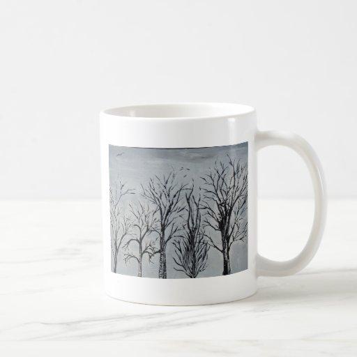 Árvores silenciosas canecas