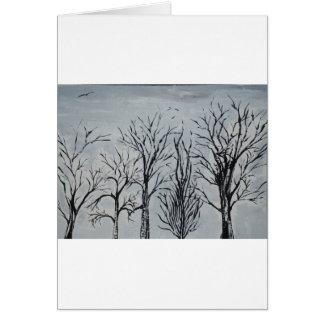Árvores silenciosas cartoes