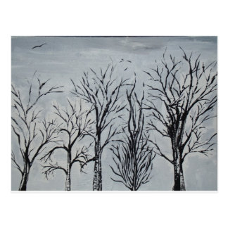 Árvores silenciosas cartão postal