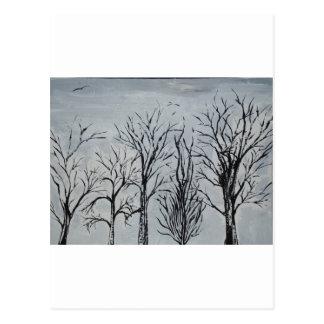 Árvores silenciosas cartões postais