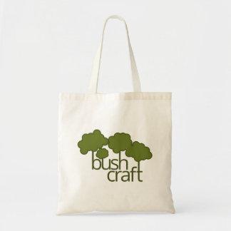Árvores verdes, artesanato do arbusto bolsa tote