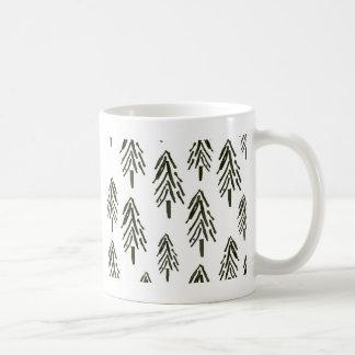 Árvores verdes caneca de café
