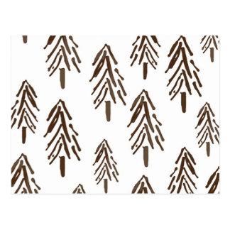 Árvores verdes cartão postal