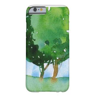 árvores verdes da aguarela capa barely there para iPhone 6