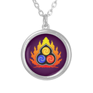 As 3 jóias - taoísmo/Tao Te Ching/Lao Tzu Colar Banhado A Prata