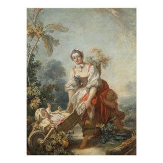 As alegrias da maternidade por Fragonard Convite Personalizado