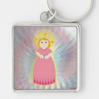 As asas do anjo cor-de-rosa do amor divino do bril chaveiros