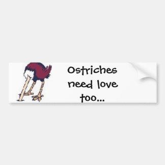 as avestruzes precisam o amor adesivo para carro