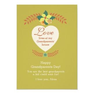 As avós são cartão especial do dia das avós convite 12.7 x 17.78cm