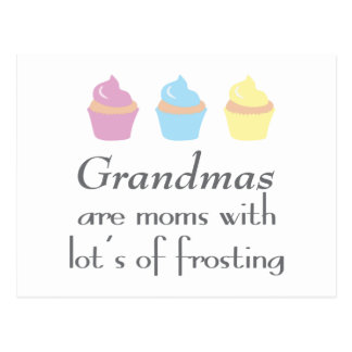 As avós são mães com lotes do glacé cartão postal