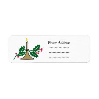 As bagas santamente do Natal endereçam o Tag da Etiqueta Endereço De Retorno