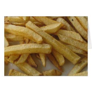 As batatas fritas anulam o cartão