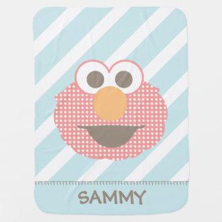 As bolinhas grandes   da cara de Elmo do bebê Cobertores Para Bebe