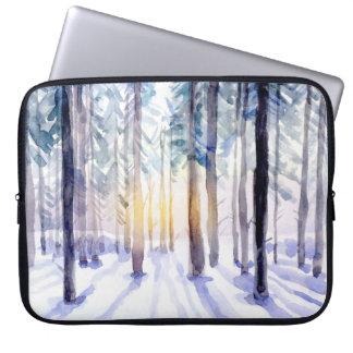 As bolsas de laptop - cena da floresta capas de computadores notebooks