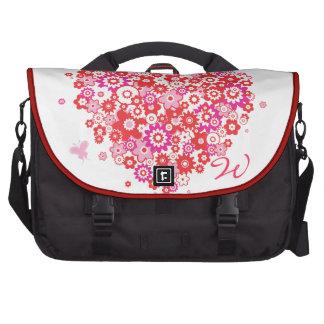 As bolsas do laptop do coração 1 da flor pastas para laptops