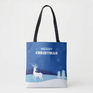 As bolsas do Natal da ilustração da rena