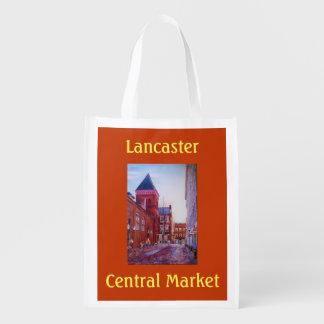 As bolsas reusáveis do mercado central de sacolas ecológicas