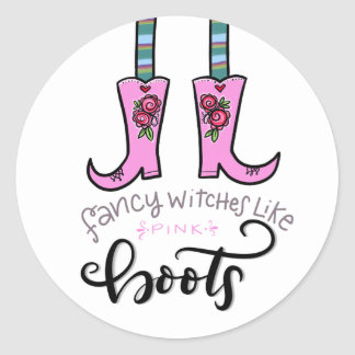 As bruxas extravagantes gostam de botas adesivo