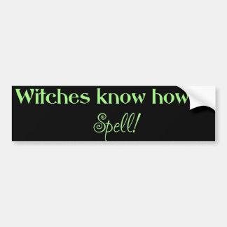 As bruxas sabem soletrar (o pára-choque) adesivo para carro