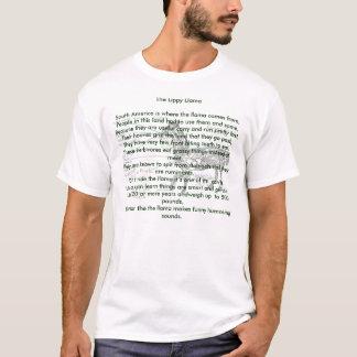As camisas animais da rima do lama Lippy