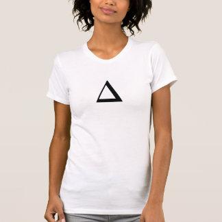 As camisas do triângulo do hipster personalizam a