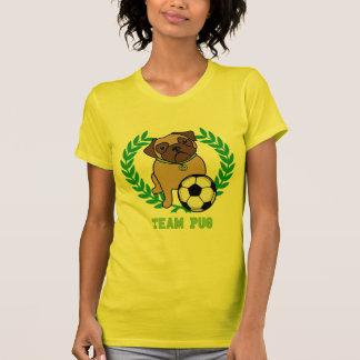 As camisetas do Pug do futebol (verdes) Team o Pug