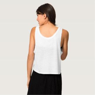 As camisolas de alças das mulheres regata flowy crop