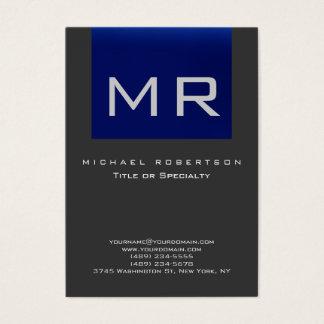 As cinzas azuis do monograma carnudo limpam o cartão de visitas