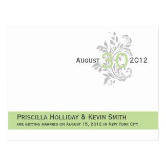 As cinzas elegantes do verde do aipo dos rolos sal cartões postais