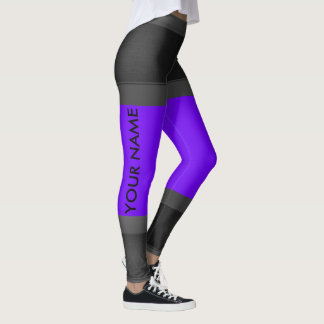 As cinzas personalizam a mudança roxa das leggings