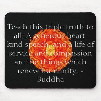 As citações de Buddha inspiram inspirador Mouse Pad