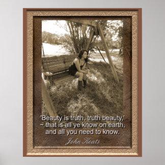 As citações de John Keats - impressão da arte -