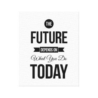 As citações inspiradas futuras brancas