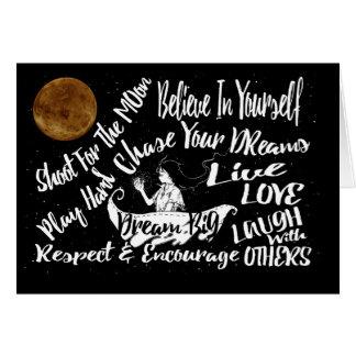 As citações inspiradas Stars @ o cartão da noite