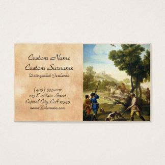 As codorniz que caçam a obra-prima de Francisco Cartão De Visitas