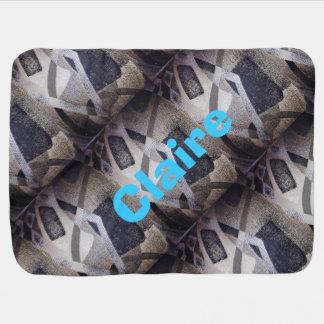 As cores neutras geométricas/personalizam a cobertorzinhos para bebe