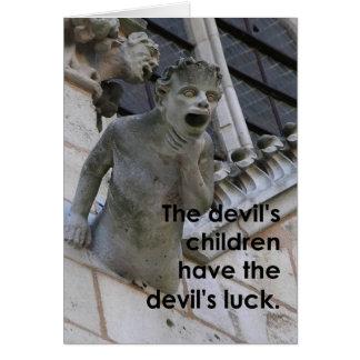 As crianças dos diabos… cartão comemorativo