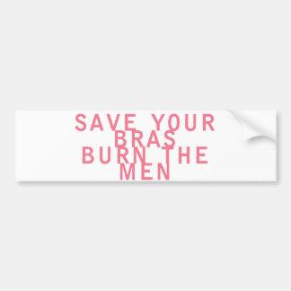 As economias do feminismo seus sutiãs queimam os h adesivo para carro