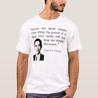 As edições são nunca simples. T-shirt de Obama